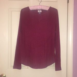 Old navy long sleeve red shirt